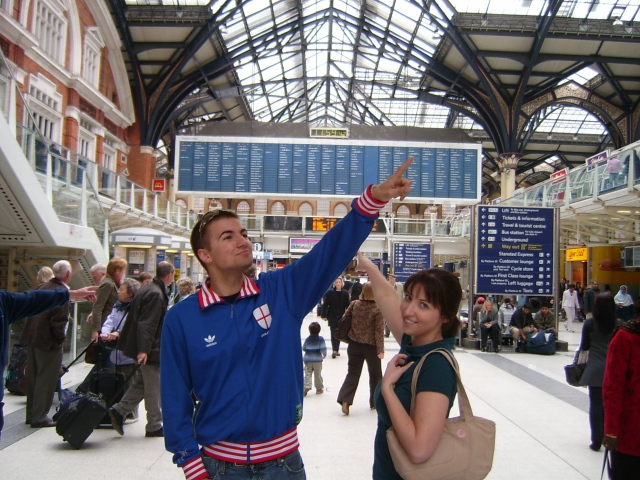 London station with my guides
