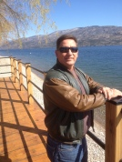 Peachland BC across the street from Bliss bakery on Okanagan lake, just me