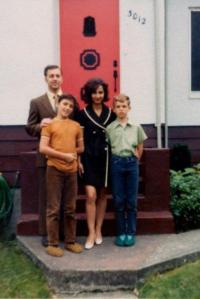 family picture of Gerald, Lillian, Dave and James approx 1972