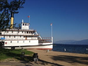 Sicamous paddlewheeler on Okanagan Lake, north end of Penticton