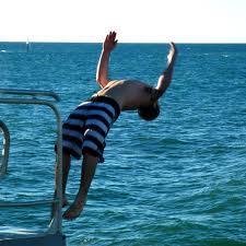 diving in 4