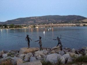 Okanagan Lake statues