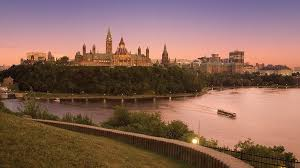 Ottawa river and Parliament buildings from the back