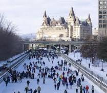 Rideau canal skaters in winter