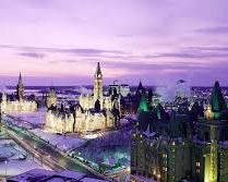 Looking west past the Chateau Laurier hotel