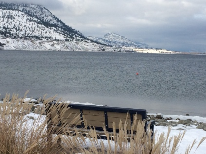 Okanagan lake, have a seat?