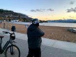 Skaha lake, I'm bundled up, sunset