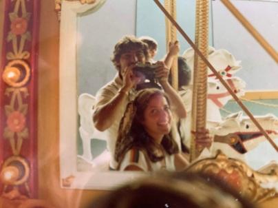 1980ish, merry go round at disneyland CA