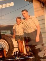 North Battleford, Saskatchewan with Dad, the car had a continental kit on back. Cool !