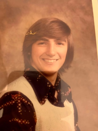 1976 high school grad picture. wonderful times