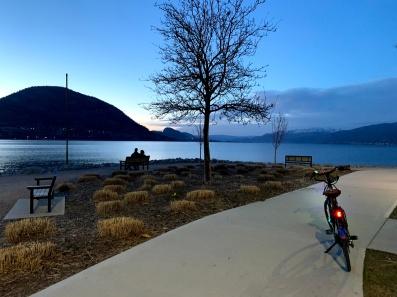Okanagan lake at sunset