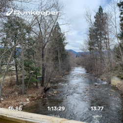 Penticton creek, the numbers are cycling stats for that trip.