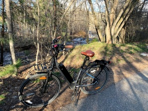 another ride we like is along a creek in town