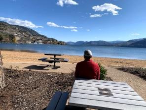 Skaha lake, jr just relaxing