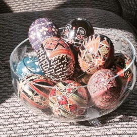 Baba's eggs - my simpler ones are visible also in purple, black, and aqua blue ♥