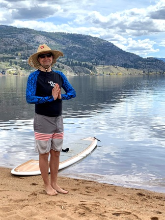 A calm cloudy day yesterday lead to paddleboarding on Skaha lake 5 minutes from home