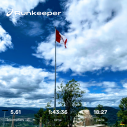 I checked and walking the road to the top is 2.85 km at Giant's Head Mountain in Summerland. The road is my choice right now, the grind and the friendly giant trails I will try, if I can, when I get more fit!