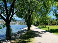 A bit of shade along Okanagan Lake, the breeze and the view competing for appreciation